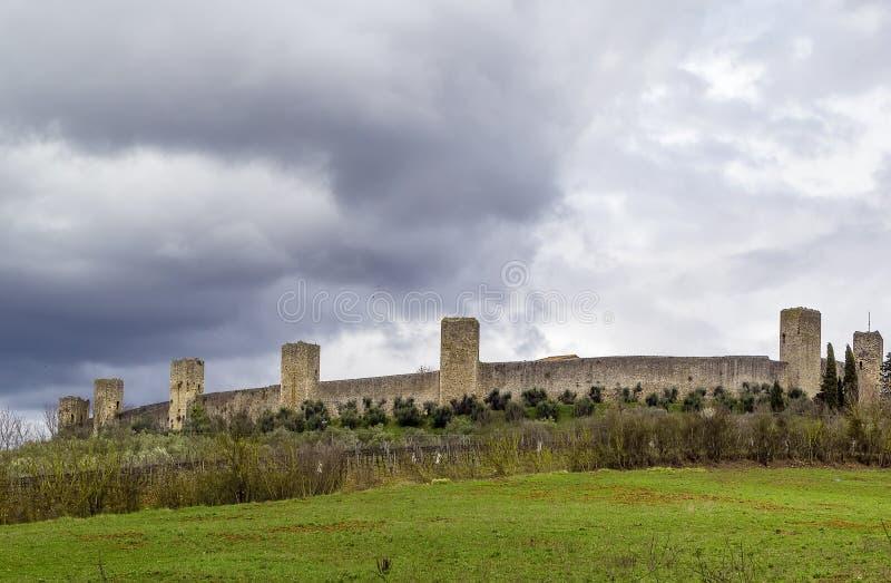 Стены Monteriggioni Италия стоковое фото
