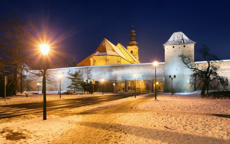 Стены Trnava, Словакия стоковые изображения rf