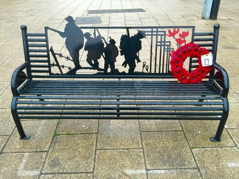 Стенд для военного мемориала стоковое изображение rf