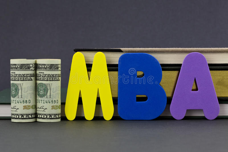 Степень MBA вклад образования стоковая фотография rf