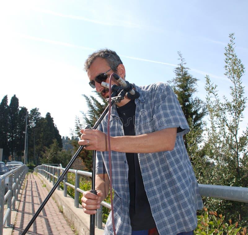 Стерео размещение микрофона стоковое изображение
