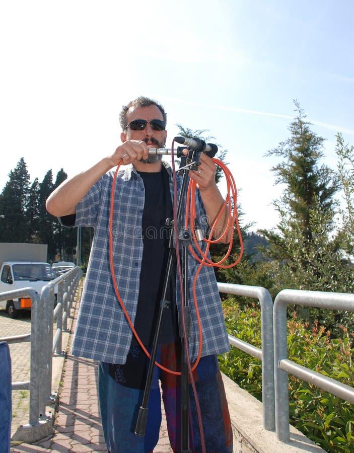 Стерео размещение микрофона стоковая фотография