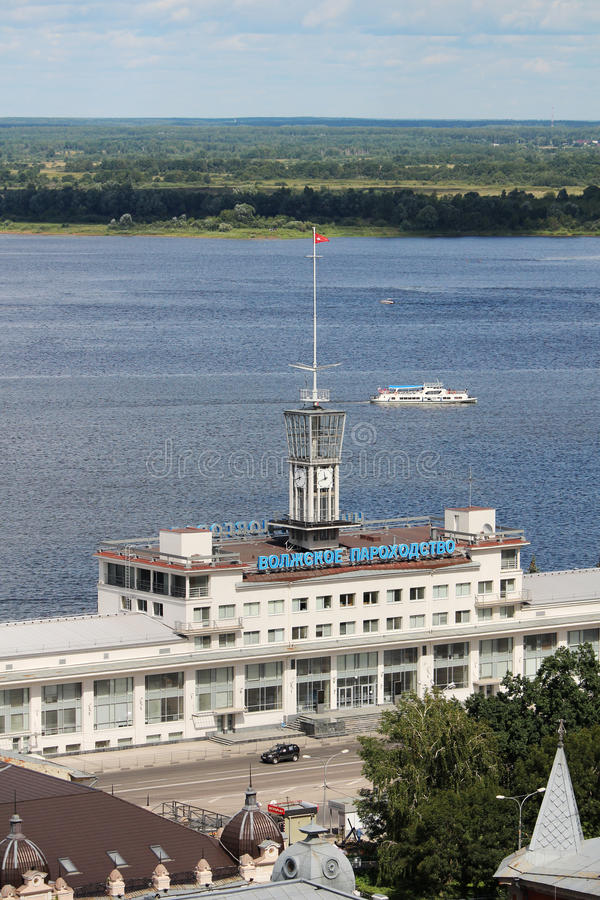 Стержень берега реки Nizhny Novgorod стоковые фото