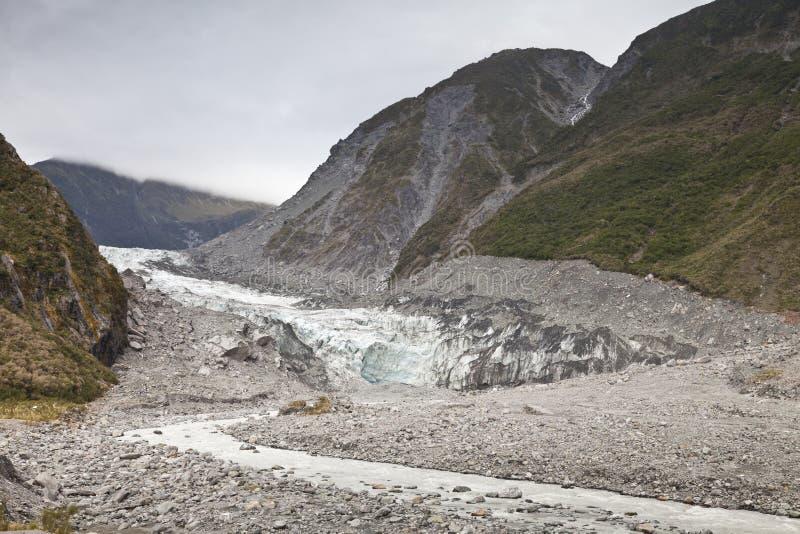 Стержень ледника Fox, Новой Зеландии стоковое фото