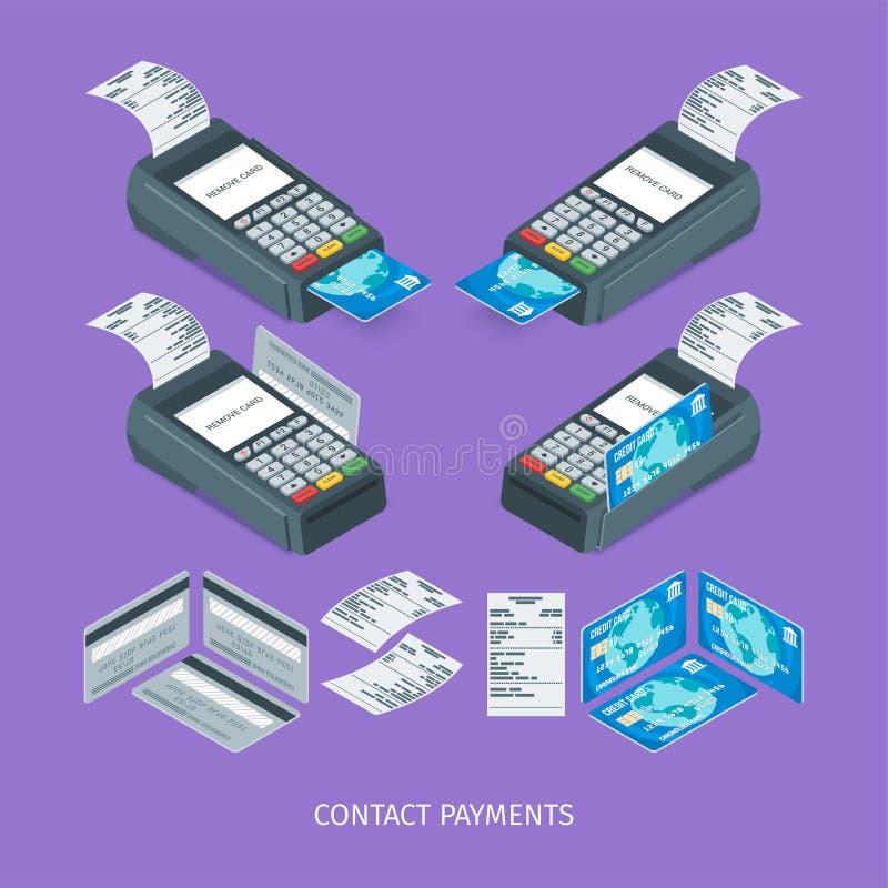 Стержень оплаты контакта иллюстрация вектора