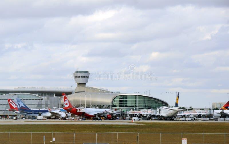 стержень miami авиапорта стоковое фото