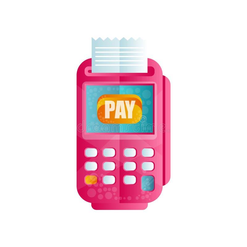 Стержень POS подтверждая оплату, машину для обрабатывать оплаты кредитом или иллюстрацией вектора кредитной карточки плоской бесплатная иллюстрация