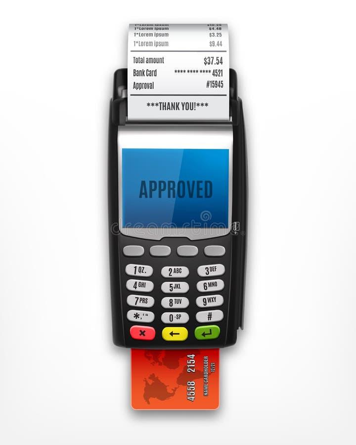 Стержень POS с кредитной карточкой иллюстрация вектора