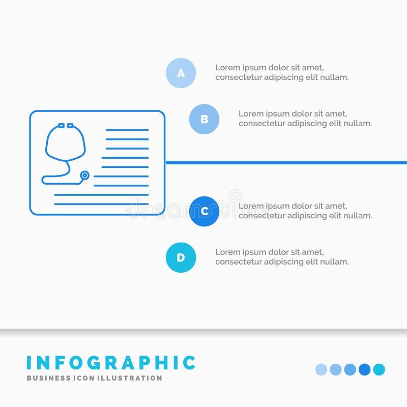 стетоскоп, доктор, кардиология, здравоохранение, медицинский шаблон Infographics для вебсайта и представление r иллюстрация вектора