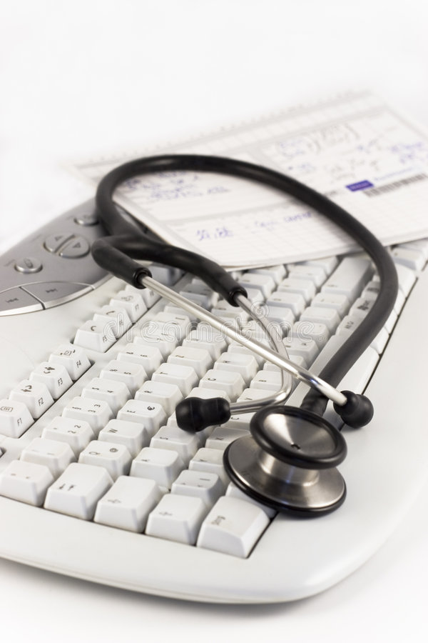 стетоскоп клавиатуры стоковое изображение