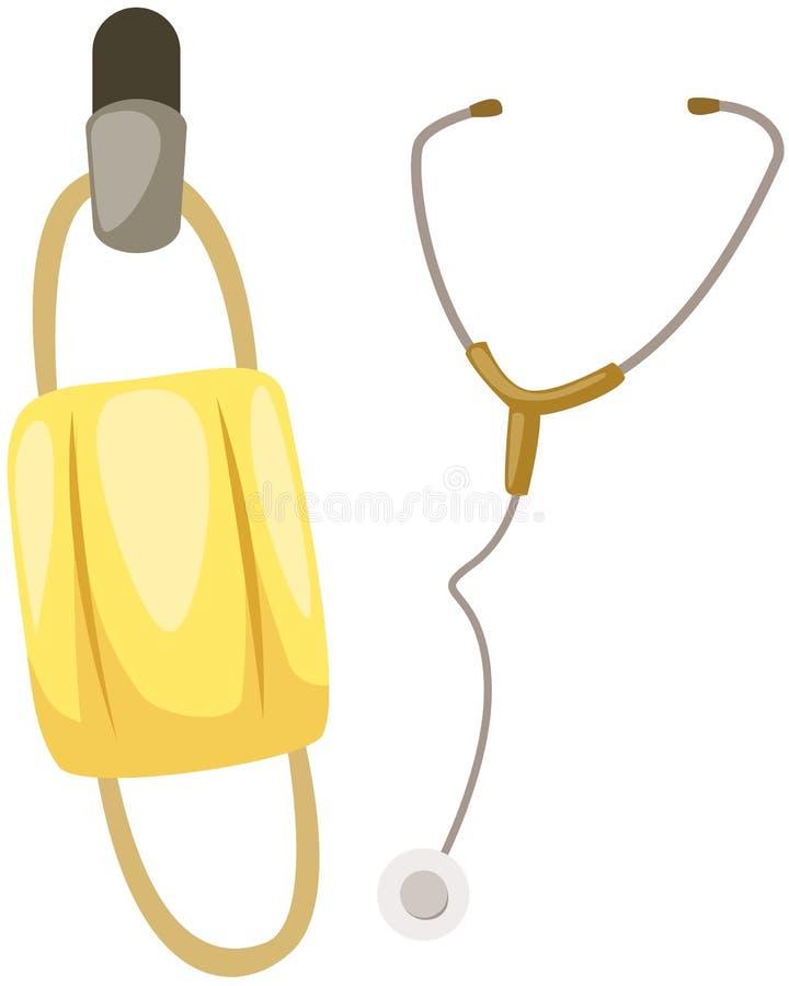 стетоскоп маски бесплатная иллюстрация