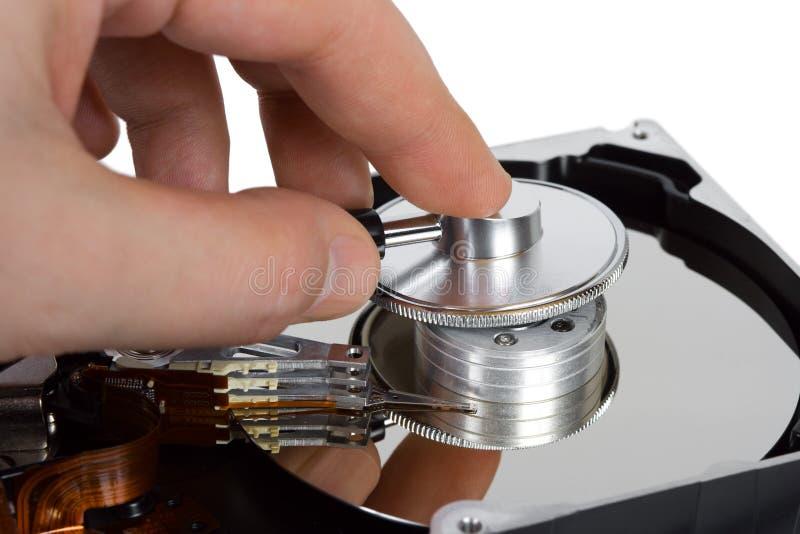 стетоскоп руки привода компьютера трудный стоковая фотография