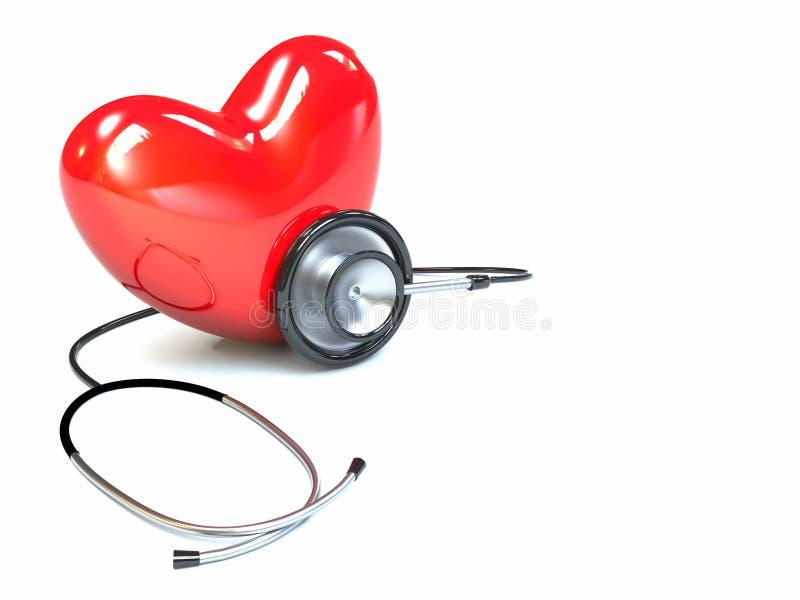 стетоскоп сердца бесплатная иллюстрация
