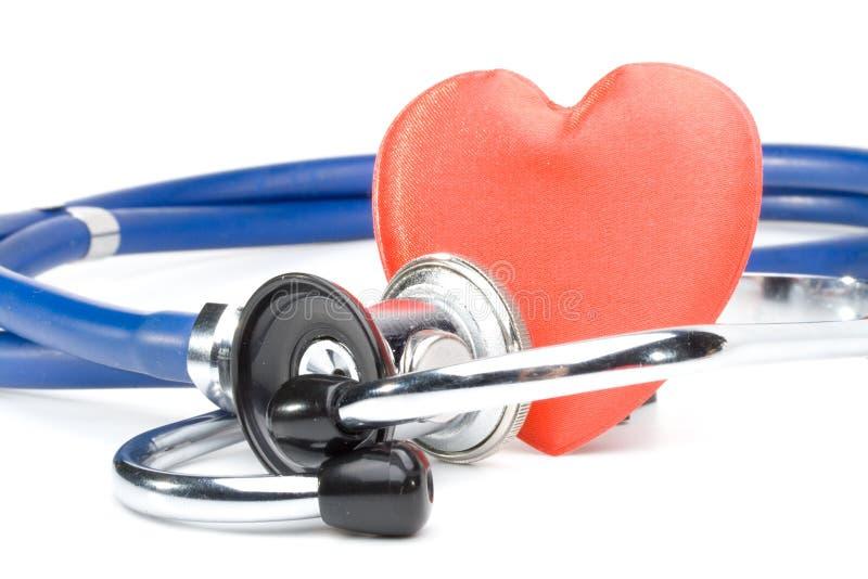 стетоскоп сердца стоковое фото
