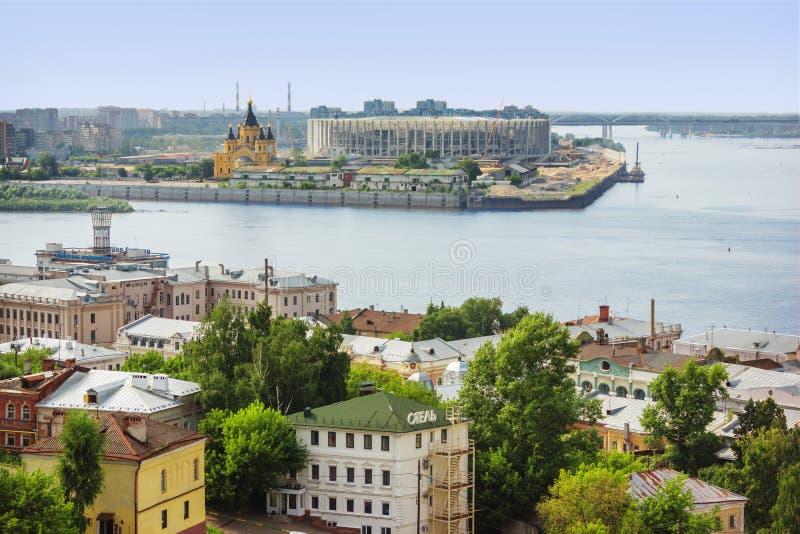 Стечение Волги и Oka nizhny novgorod Россия стоковые фото