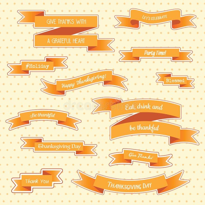Стикеры благодарения бесплатная иллюстрация
