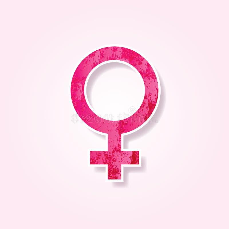 Стикеры вектора символ Венеры женщины иллюстрация вектора