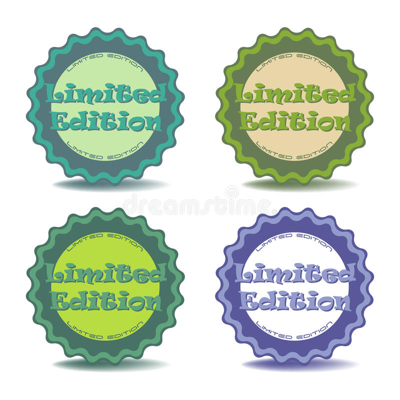 Стикеры ограниченного тиража иллюстрация вектора