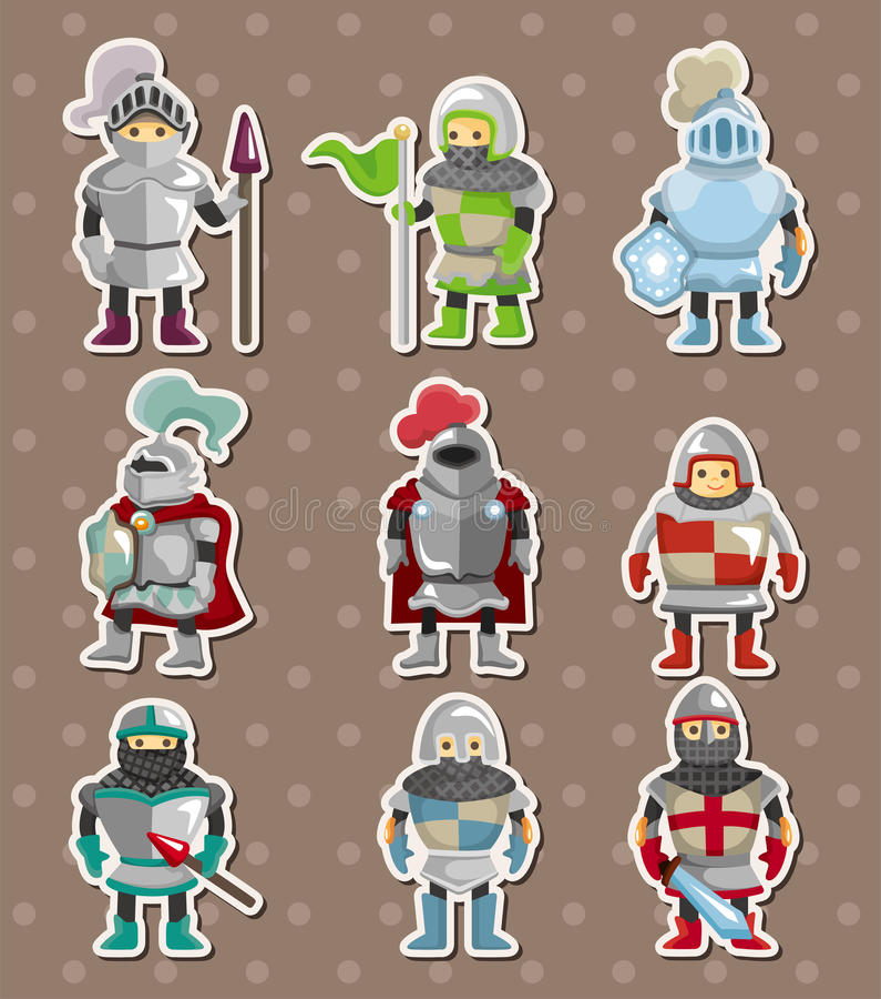 Стикеры рыцаря бесплатная иллюстрация