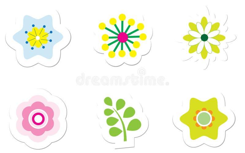 стикеры цветка иллюстрация штока