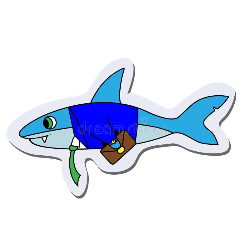 Стикер акулы дела E иллюстрация штока