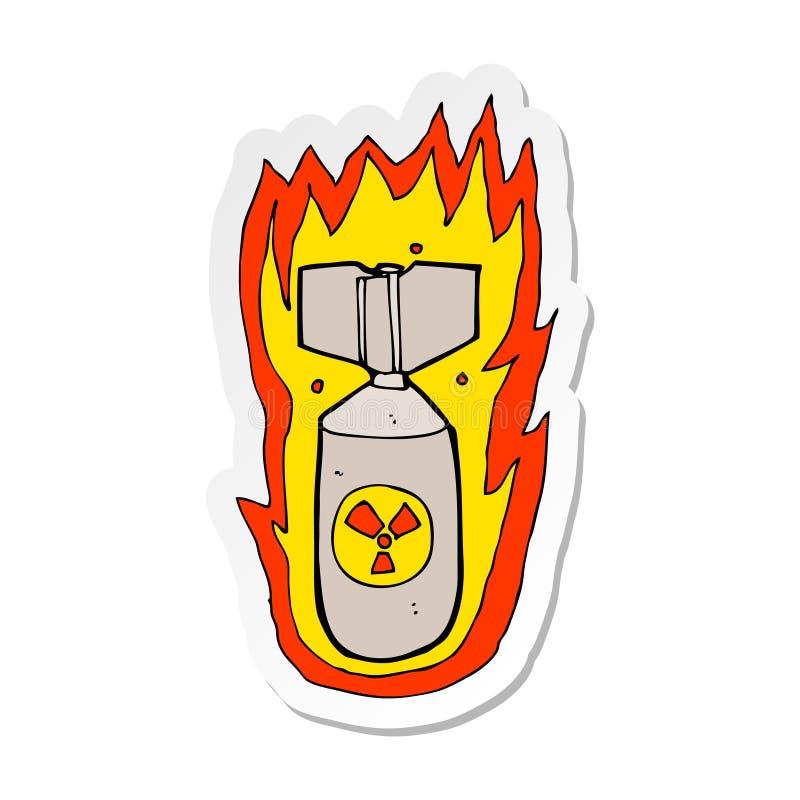 стикер бомбы пылать мультфильма бесплатная иллюстрация