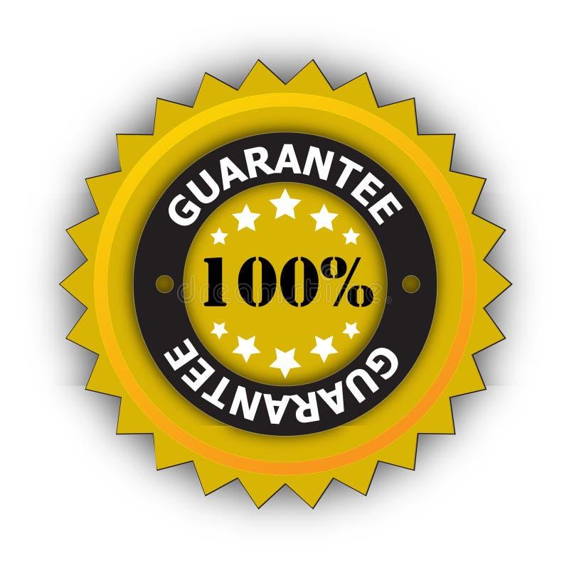 Стикер гарантии 100% иллюстрация вектора