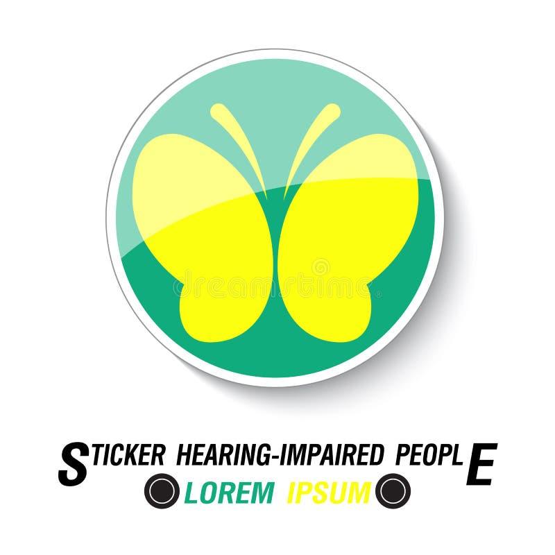 Стикер для слышать - поврежденные водители иллюстрация штока