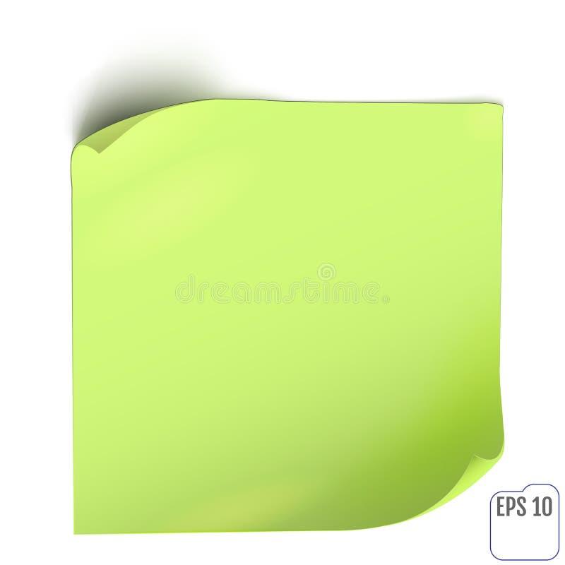 Стикер зеленой книги с тенью Пустые знамя сети или ярлык скручиваемости иллюстрация вектора