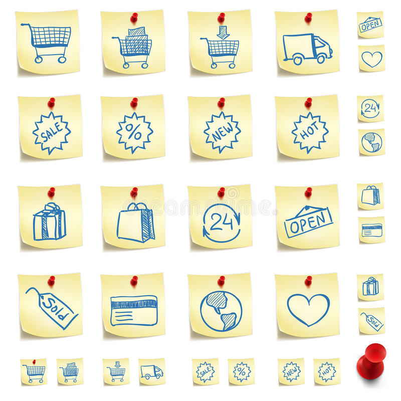 стикер иконы установленный иллюстрация штока