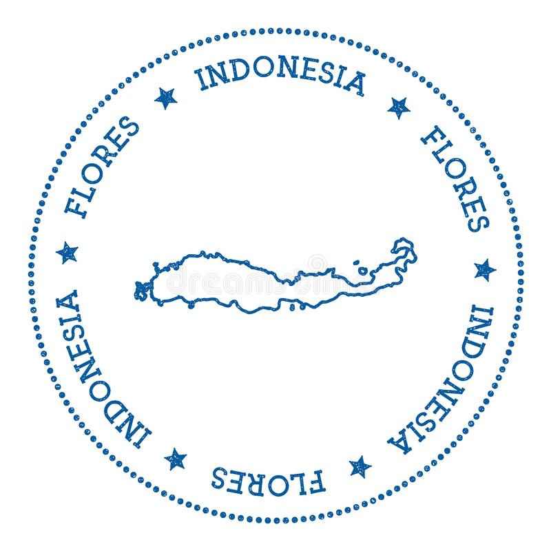 Стикер карты Flores бесплатная иллюстрация