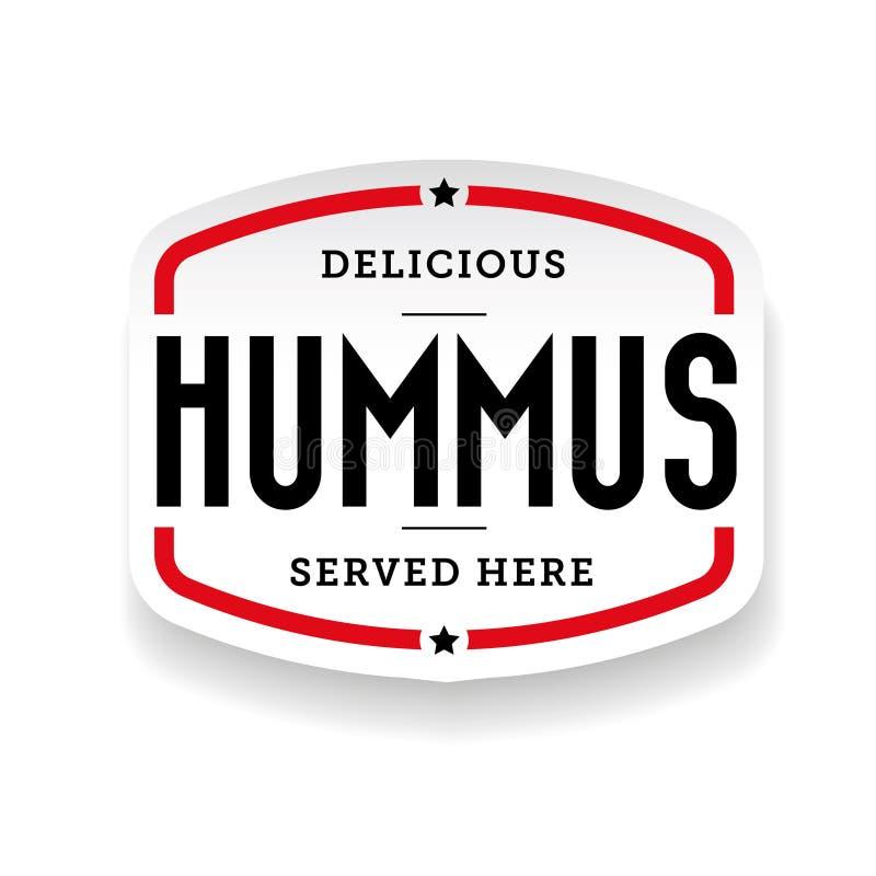 Стикер кухни Hummus арабский бесплатная иллюстрация
