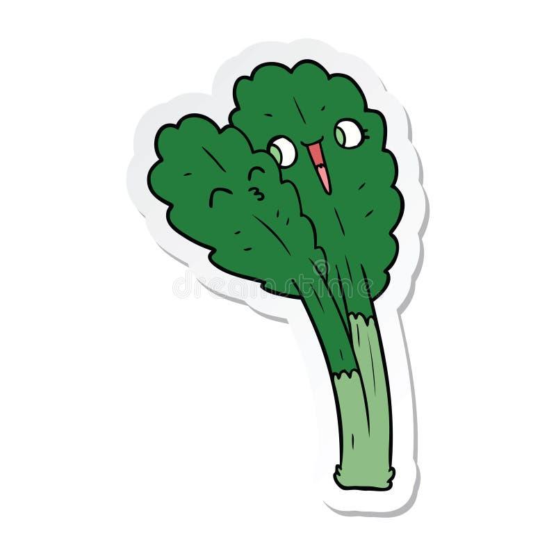 стикер листьев салата мультфильма иллюстрация штока