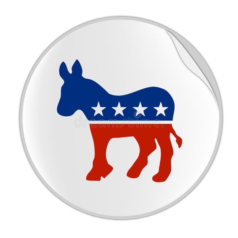 стикер логоса democratics иллюстрация штока