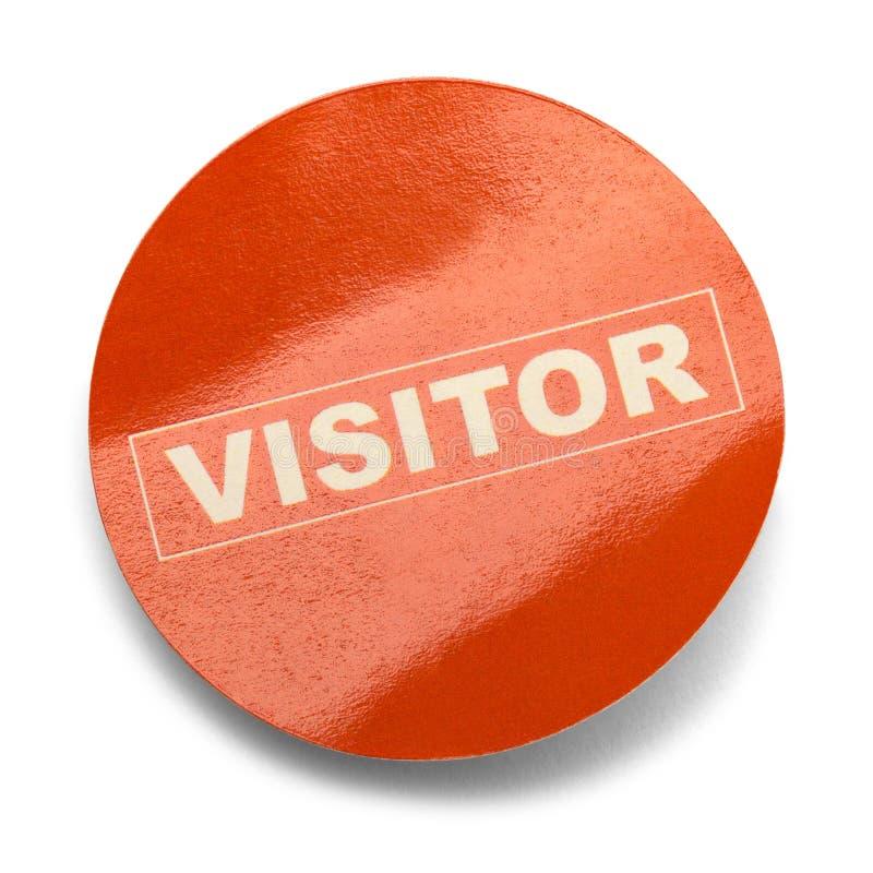 Стикер посетителя стоковые изображения rf