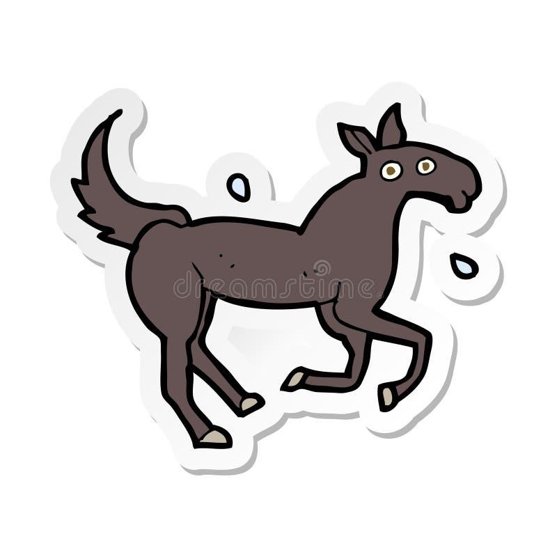 стикер потеть лошади мультфильма иллюстрация вектора