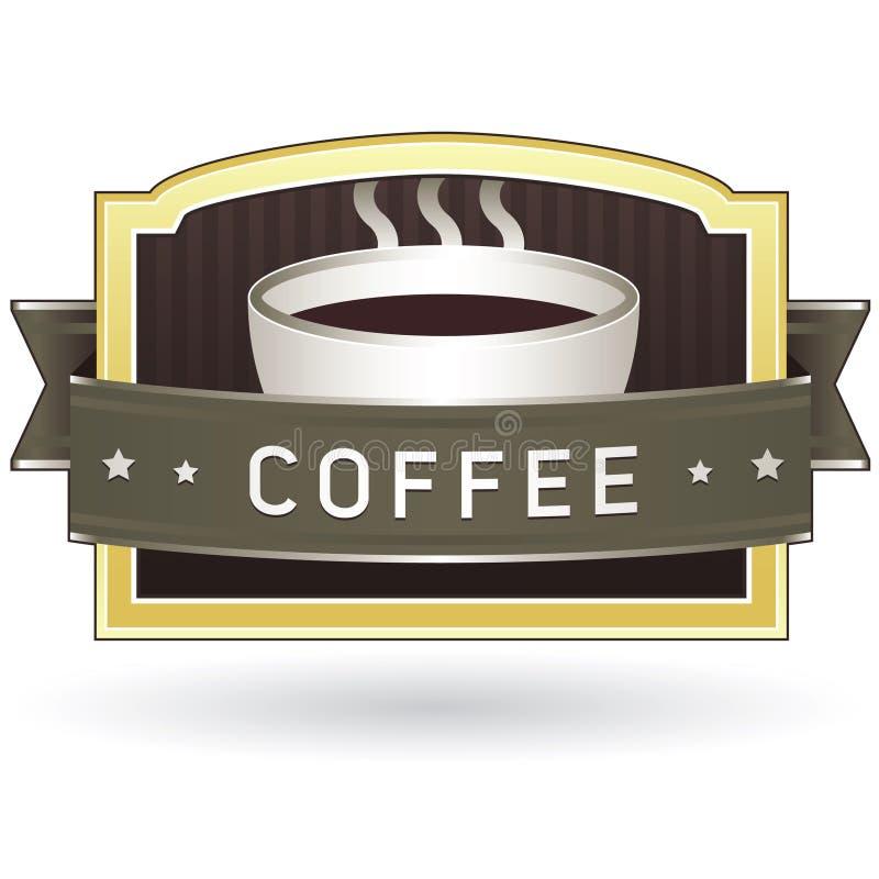 стикер продукта ярлыка кофе иллюстрация вектора