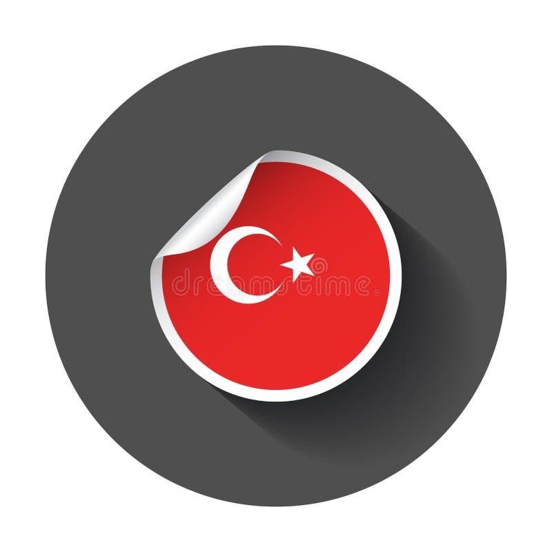 Стикер Турции с флагом бесплатная иллюстрация