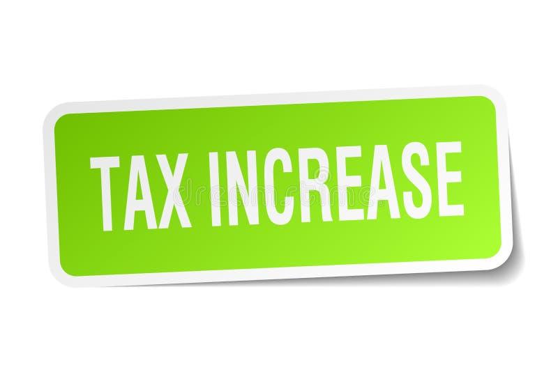 Стикер увеличения налога иллюстрация вектора