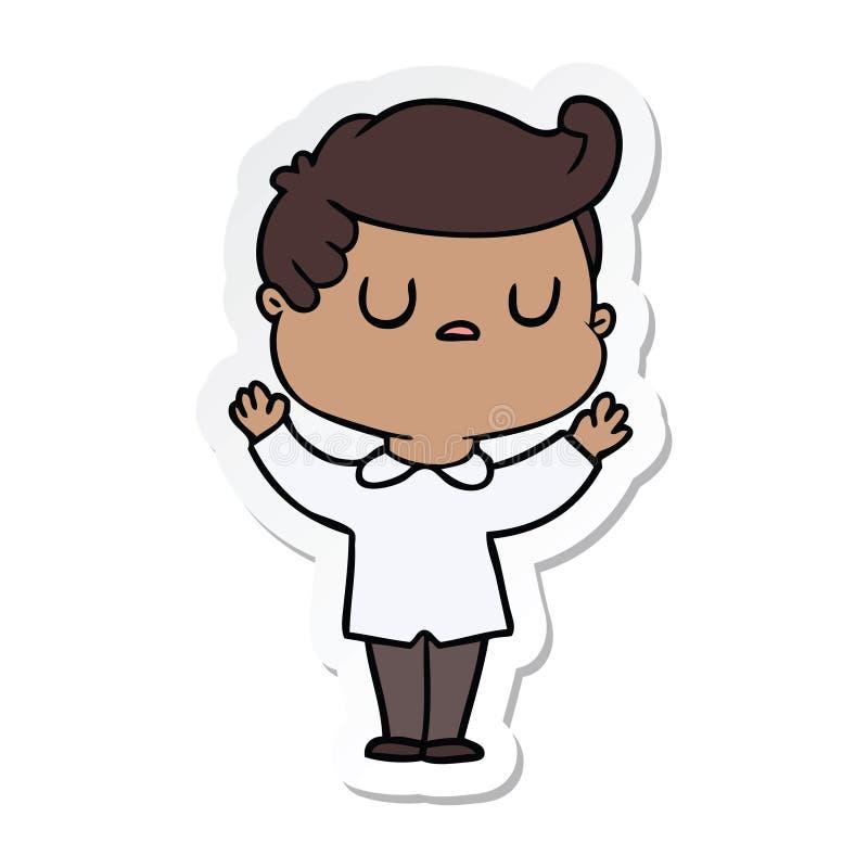 стикер человека мультфильма отчужденного бесплатная иллюстрация