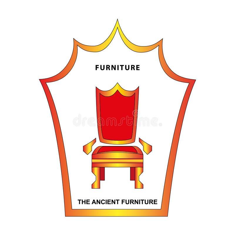 Стикер ярлыка фабрики мебели бренда мебели иллюстрации удобный для офиса названия бесплатная иллюстрация