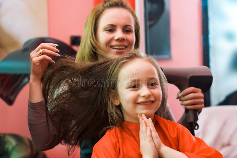 стилизатор волос стоковая фотография