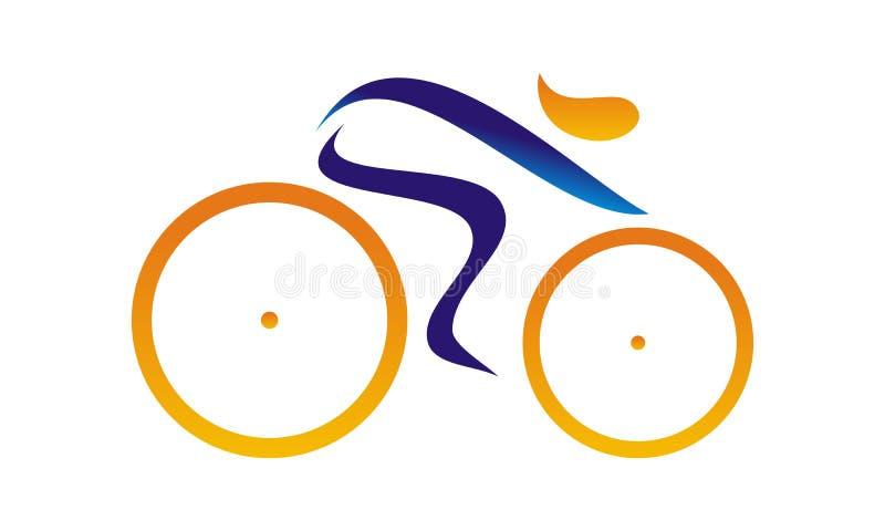 Стилизованная гонка велосипеда иллюстрация штока