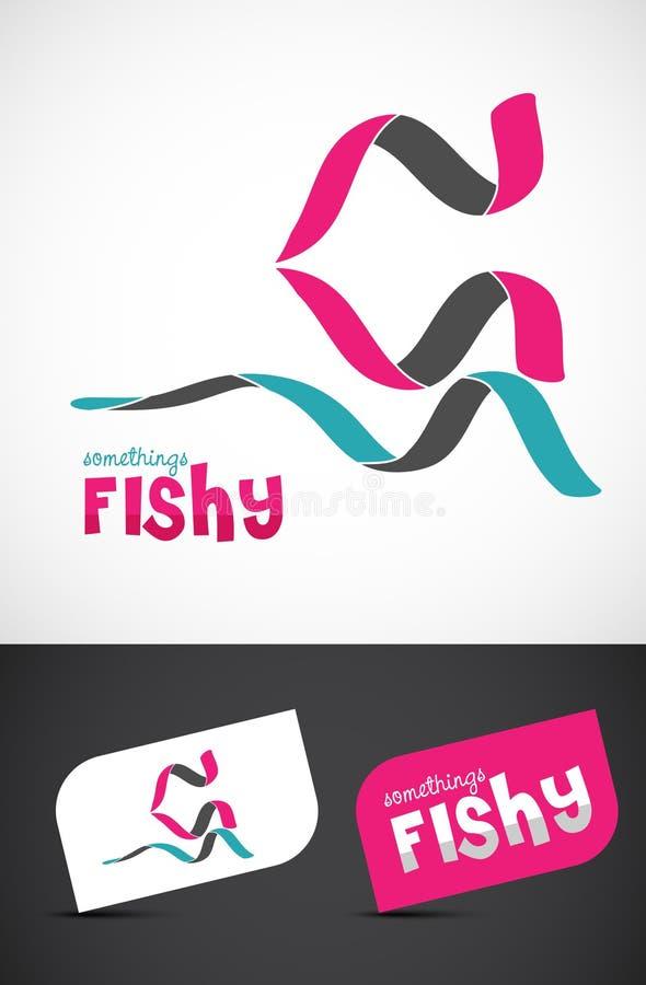 Стилизованная икона рыб тесемки иллюстрация штока