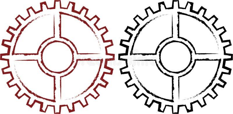 Стилизованная промышленная шестерня бесплатная иллюстрация