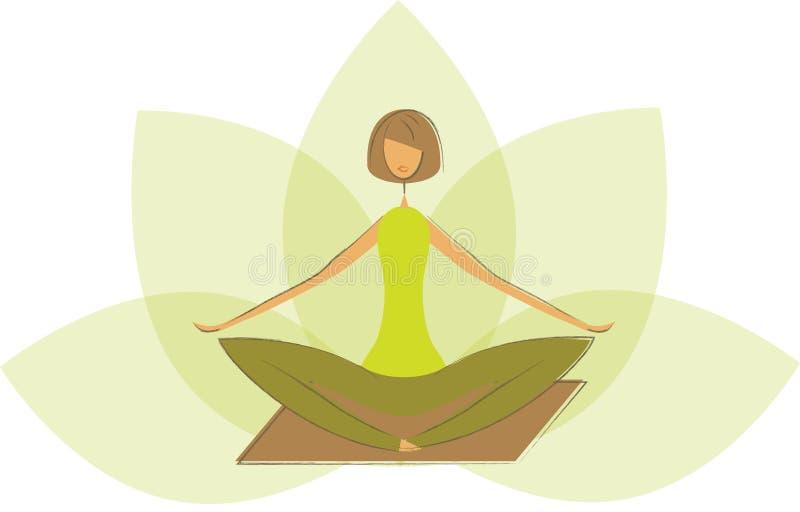 Стилизованное представление лотоса йоги. иллюстрация штока