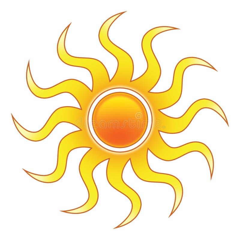 стилизованное солнце иллюстрация штока