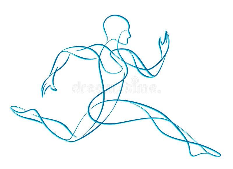 Стилизованный бегун иллюстрация вектора