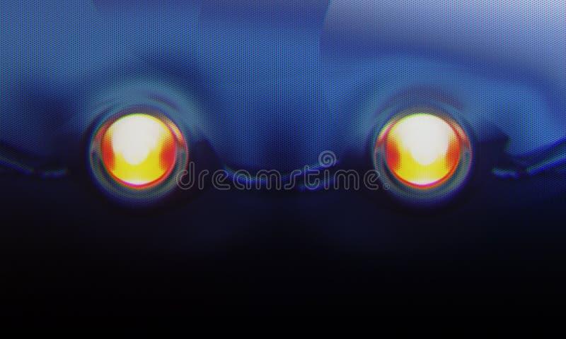 Стилизованный глаз робота иллюстрация вектора