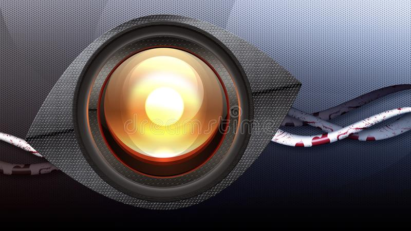 Стилизованный глаз робота иллюстрация штока